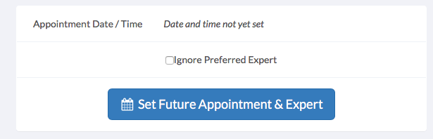 Past Appointment Date Time